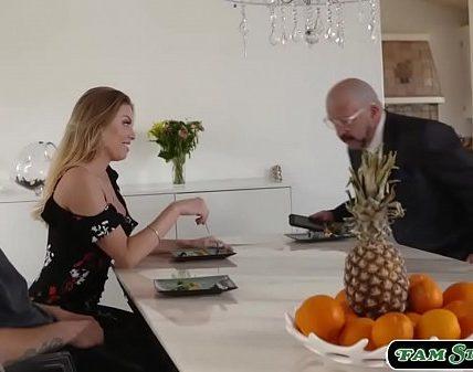 Stepson licks and fucks his hot stepmom